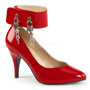 """Shoes - 4"""" High Heel Wide Band Ankle Lock Key Pump Shoes"""